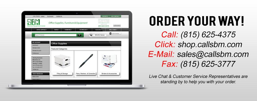 online-ordering-slide - SBM Business Equipment Center